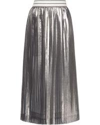 Mrz - Pleated Silk Lame Skirt - Lyst