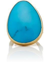 Annette Ferdinandsen - Coral Branch 18k Gold Turquoise Ring - Lyst