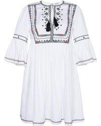 Talitha - Diamond Embroidered Gypsy Dress - Lyst