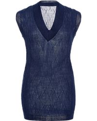 Hensely   Double Collar Sweater Vest   Lyst