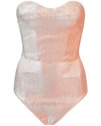 Maria Lucia Hohan - Fizzi Metallic Corset Sweetheart Bodysuit - Lyst