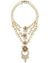 Marchesa - Multi Row Frontal Necklace - Lyst