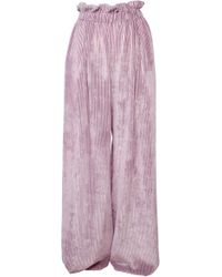 ANOUKI - Purple Corduroy Loose Pants - Lyst