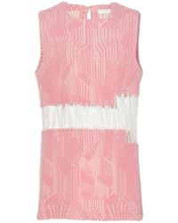 Madiyah Al Sharqi - Textured Lace Sleeveless Dress - Lyst