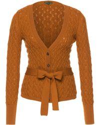 Lena Hoschek - Bow-embellished Crochet-knit Wool Cardigan - Lyst