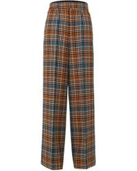 Dorothee Schumacher - Charismatic Check Wool-blend Trousers - Lyst