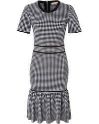 Michael Kors - Gingham Fitted Mini Dress - Lyst