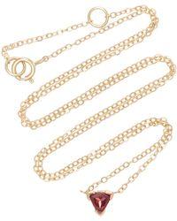 Shahla Karimi - Trillion 14k Gold Garnet Necklace - Lyst