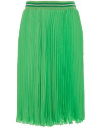 Blugirl Blumarine - At The Knee Hem Pleated Skirt - Lyst