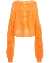 Loewe - Cable Mohair-blend Sweater - Lyst