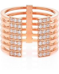 Melissa Kaye - Izzy 18k Pink Gold Diamond Ring - Lyst