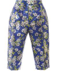 Delpozo - Floral Jacquard Bermuda Shorts - Lyst