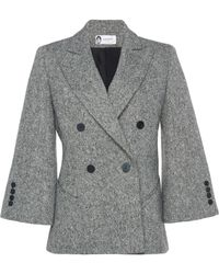 Lanvin - Double Breasted Blazer - Lyst