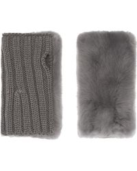 Pologeorgis - The Fur Fingerless Gloves - Lyst