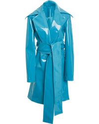 Christian Siriano - Rubberized Trench - Lyst