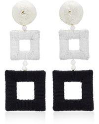 Oscar de la Renta | Double Square Wrapped Earrings | Lyst