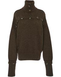 JOSEPH - High Neck Button Sweater - Lyst