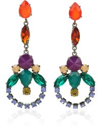 Sharra Pagano - Red And Green Crystal Earrings - Lyst