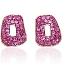 Mattioli - Puzzle Earrings With Pink Sapphires - Lyst