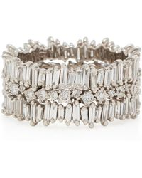 Suzanne Kalan - White Gold Eternity Band - Lyst