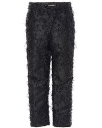 Zac Posen - Angel Hair Lurex Cropped Trousers - Lyst