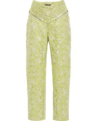 Zac Posen - Hosta Jacquard High Waisted Trousers - Lyst