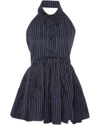 Rosie Assoulin - Open-back Peplum Cotton-poplin Mini Dress - Lyst