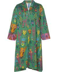 Rianna + Nina - Emmi Printed Cotton Shift Dress - Lyst