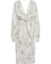 Johanna Ortiz - Exclusive San Bernardo Del Viento Floral-print Wrap Dress - Lyst