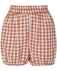 Dodo Bar Or - Gloria Gingham Cotton Shorts - Lyst