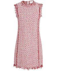 Giambattista Valli - Floral-embellished Tweed Mini Dress - Lyst