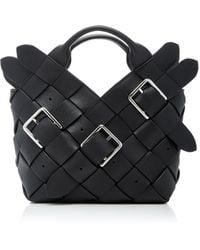 Loewe - Mini Woven Buckle Leather Basket Bag - Lyst