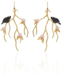 Annette Ferdinandsen - M'o Exclusive: Blackbird Blossom Branch Earrings - Lyst