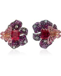 Anabela Chan - Exclusive Ruby Peony Earrings - Lyst