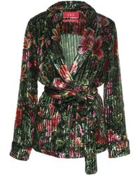 F.R.S For Restless Sleepers - Armonia Floral Velvet Wrap Top - Lyst