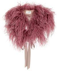 DEMARSON - Zoe Silk-trimmed Feather Shawl - Lyst