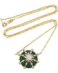 Colette - Caged Malachite Calypso Necklace - Lyst
