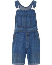 RE/DONE - Rigid Denim Shortalls - Lyst