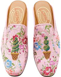 Stubbs & Wootton - M'o Exclusive: Topiary Rosada Ava Mule - Lyst