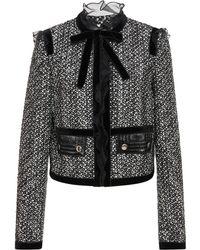 Giambattista Valli - Bow Tweed Jacket - Lyst