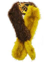 Versace - Faux Fur Stole - Lyst