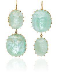 Renee Lewis - 18k Gold Emerald Earrings - Lyst