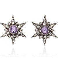 Arman Sarkisyan - Purple Sapphire Starburst Studs - Lyst