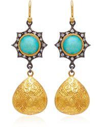 Arman Sarkisyan - 22k Gold, Opal And Diamond Earrings - Lyst