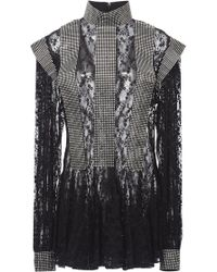 Christopher Kane - Ruffled-hem Lace-and-sequin Dress - Lyst