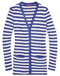 Ralph Lauren - Striped V-neck Cardigan - Lyst