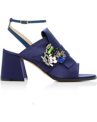 ADEAM - Jewelled Origami Sandal - Lyst