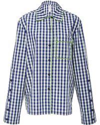 Adam Selman - Collared Pijama Shirt - Lyst