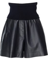 Sportmax - Carella Leather Shorts - Lyst