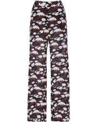 Laura Urbinati - Silk Floral Pants - Lyst
